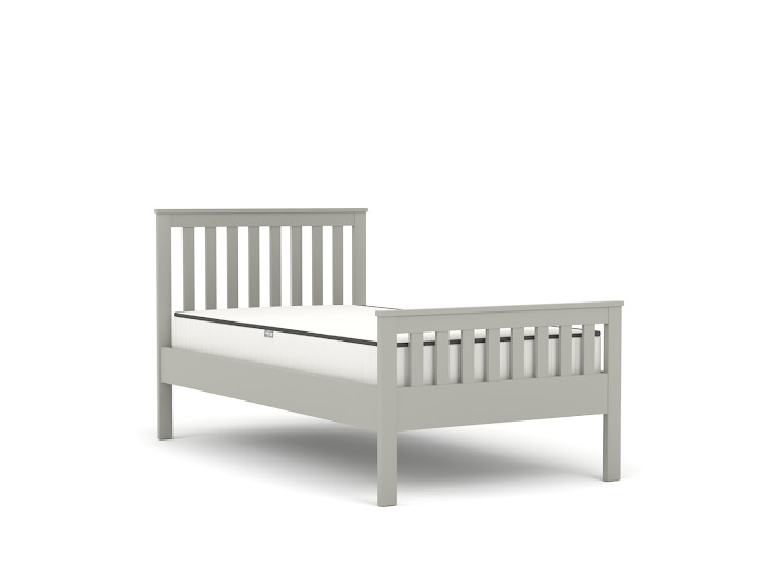 Newport Grey Single Bed | Bedtime.