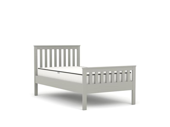 Newport Grey King Single Bed | Bedtime.