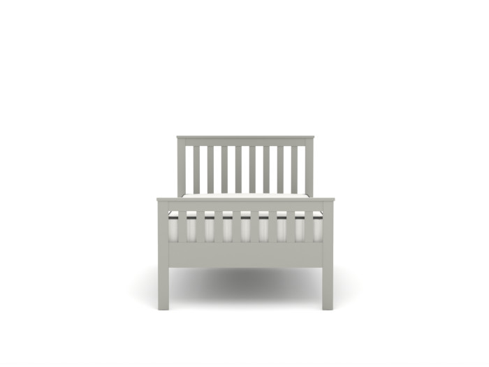 Newport Grey King Single Bed | End  | Bedtime.