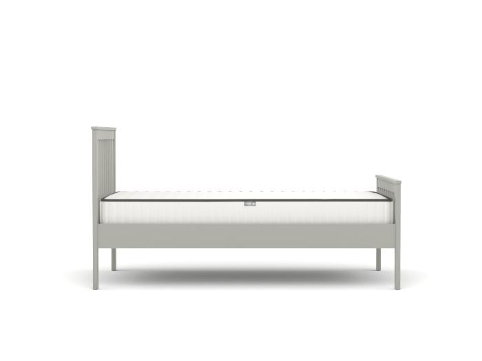 Newport Grey King Single Bed | Side | Bedtime.