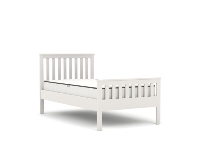 Newport White Single Bed | Bedtime.