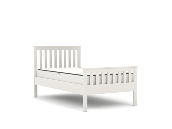 Newport White King Single Bed | Bedtime.