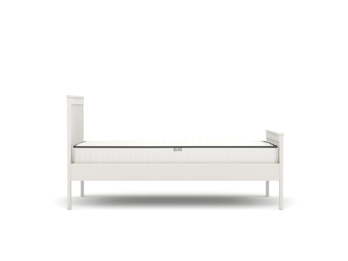 Newport White King Single Bed | Side View | Bedtime.