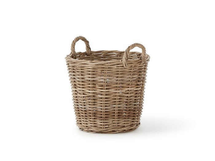 Provincial Cane Round Tapered Basket | Bedtime.