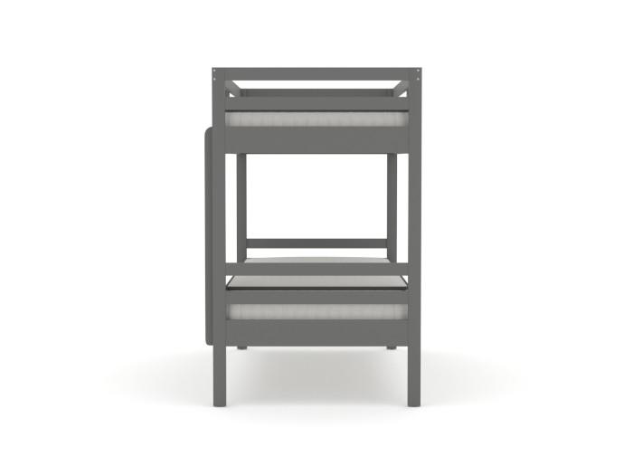 Studio Graphite Single Bunk Bed | End View | Bedtime.