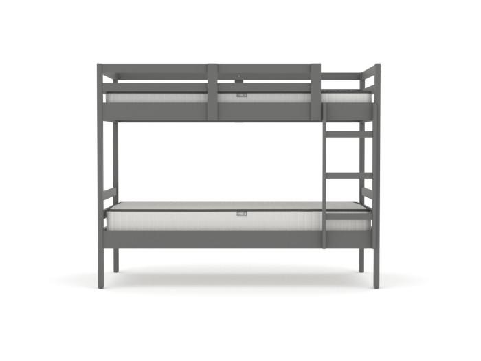 Studio Graphite Single Bunk Bed | Side View | Bedtime.
