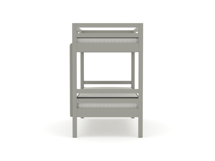 Studio Grey Single Bunk Bed | End View | Bedtime.