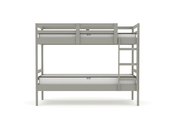 Studio Grey Single Bunk Bed | Side View | Bedtime.