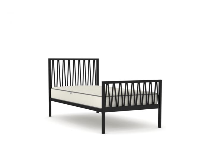 Skandia Matte Black King Single Bed | Now On Sale | Bedtime.