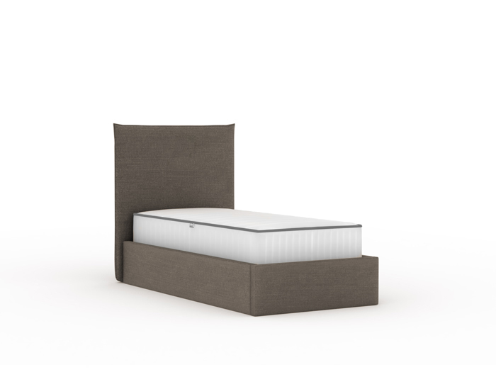 Slouch Flannel Upholstered King Single Bed | Now On Sale | Bedtime.