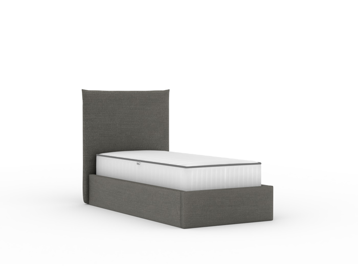 Slouch Flannel Upholstered Single Bed | Bedtime.