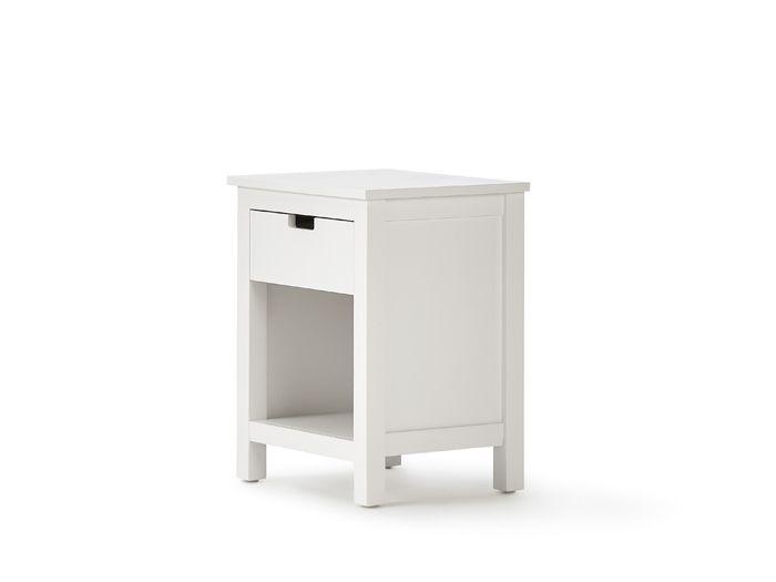 Soho White Bedside Table | Bedtime.