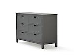 Soho Graphite 6 Drawer Dresser