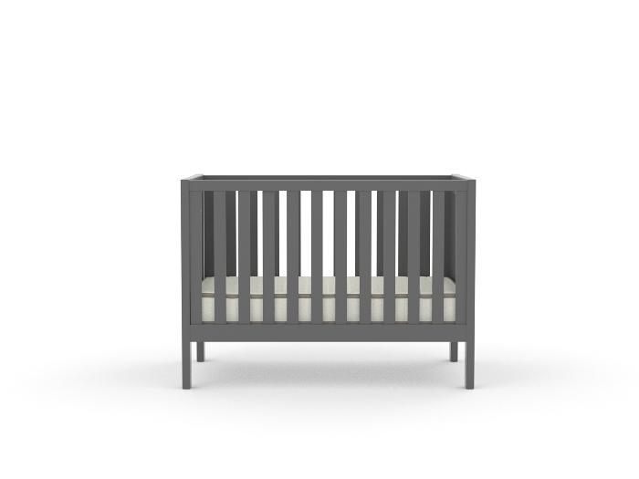 Soho Dark Grey Cot - Front View
