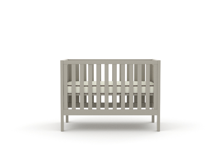 Soho Grey Wooden Cot - Mattress Up