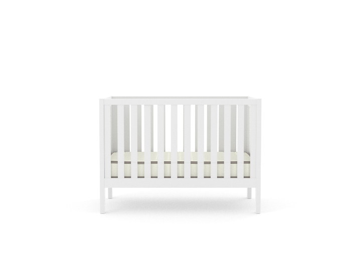 Soho White Wooden Cot - Front View