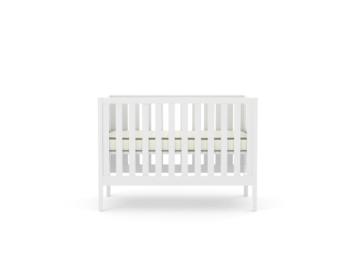 Soho White Wooden Cot - Matress Up