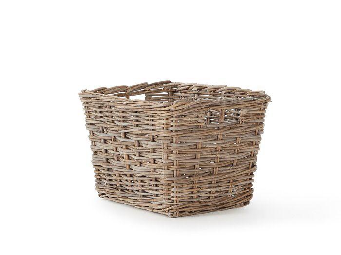 Lakewood Cane Rectangular Tapered Storage Basket | Bedtime.