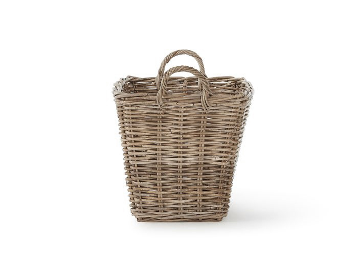 Tapered Basket with Handles | Now On Sale | End View |Bedtime.