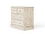 Woody Whitewash 4 Drawer Dresser