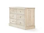 Woody Whitewash 6 Drawer Dresser