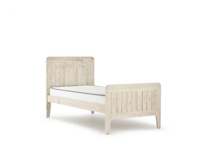 Woody Whitewash Single Bed | Bedtime.
